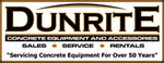 Dunrite Concrete Equipment & Accessories Logo