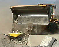 Load of Rocks  Dropped in Wheelbarrow
