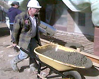 Wheelbarrowing Some Cement